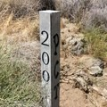 200 mile marker.- Pacific Crest Trail: California Section B