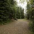 Typical site. - Tetsa River Campground