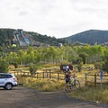 The Utah Olympic Park sits above the trailhead. - RTS Loop