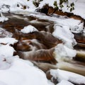 Red Creek in winter.- Breathed Mountain to Red Creek