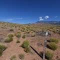 Trail ends in open desert where the Little Purgatory Trail begins.- Historic Babylon Trail