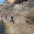 Good thing this section eases up quickly. - Coasteering on Sangster Island