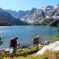 Scenic views of Dewey Lake on the Beaten Path.- The Beaten Path