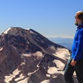Contributor Daniel Sherman takes in the view of South Sister from the summit.- Middle Sister: West Approach