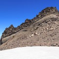 Interesting volcanic formation above the Renfrew Glacier.- Middle Sister: West Approach