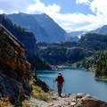 Rimrock is the second lake on the Beaten Path from East Rosebud.- The Beaten Path