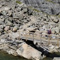 Bridge crossing over the outlet of Rimrock Lake. - The Beaten Path