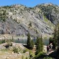 Approaching Bald Knob Lake.- The Beaten Path