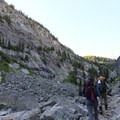 The descent from Russell Lake cuts through a tall rocky canyon. - The Beaten Path