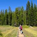 Lush meadow before Kersey Lake.- The Beaten Path