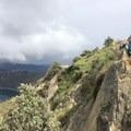 Trail around the rim of the lake.- Quilotoa Loop Trek