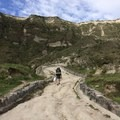 Trail from the bottom of the crater to the town of Quilotoa.- Quilotoa Loop Trek