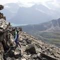 More steep steps and gorgeous views. - Bow Peak via Crowfoot Glades