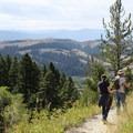 Follow the same route back down.- Bozeman's M Trail