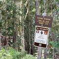 Signs at the Bohemia Mountain Trailhead.- Bohemia Mountain Trail