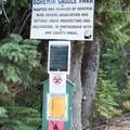 Bohemia Saddle Park sign. - Bohemia Mountain Trail