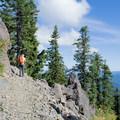 The Bohemia Mountain Trail has some loose rocks. - Bohemia Mountain Trail