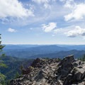 View from Bohemia Mountain in the Umpqua National Forest.- Bohemia Mountain Trail