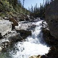 Small falls along the trail.- Red Rock Canyon
