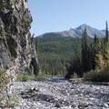 Heading upstream. - Red Rock Canyon