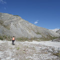 Heading up an alluvial fan. - Boulder Canyon Trail