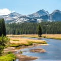 The trail follows the Tuolumne River for the majority of the hike.- Tuolumne Meadows to Glen Aulin High Sierra Camp