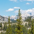 A beautiful view of the High Sierra from the trail.- Tuolumne Meadows to Glen Aulin High Sierra Camp