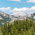 The High Sierra as seen from the trail.- Tuolumne Meadows to Glen Aulin High Sierra Camp