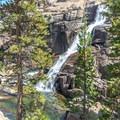Tuolumne Falls, the largest of the waterfalls between Tuolumne Meadows and Glen Aulin.- Tuolumne Meadows to Glen Aulin High Sierra Camp