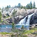 White Cascade at Glen Aulin.- Tuolumne Meadows to Glen Aulin High Sierra Camp