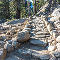 Many sections of the trail are steep.- Tuolumne Meadows to Glen Aulin High Sierra Camp