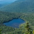 View of Lonesome Lake on the way up Cannon Mountain.- Franconia Notch State Park