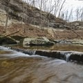 McCormick's Creek runs gently throughout the park.- McCormick's Creek State Park