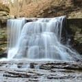 McCormick's Creek waterfall.- McCormick's Creek State Park