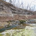 McCormick's Creek carved its way through the surrounding rock over time.- McCormick's Creek State Park