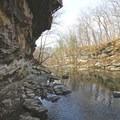 Looking down along McCormick's Creek.- McCormick's Creek State Park