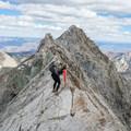 Descending the Knife Ridge.- Capitol Peak