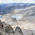 Pierre Lakes and the rugged Elk Mountains.- Capitol Peak