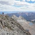 Amazing views on the summit of Capitol Peak.- Capitol Peak