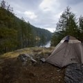 Campsite near the summit of North Twin Island.- Paddle to Twin Islands Campsite