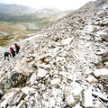 Ascending to the saddle between Mount Democrat and Mount Cameron.- DeCaLiBron Loop