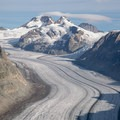 The glacier stretches from the Jungfrau all the way past Eggishorn and beyond.- Fiescheralp to Eggishorn Hike