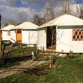 There are three yurts on the property.- Earthship Patagonia Hostel
