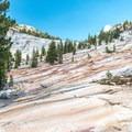 The unique landscape of the Yosemite Wilderness.- Glen Aulin High Sierra Camp to Waterwheel Falls