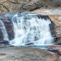 A long exposure photograph of California Falls.- Glen Aulin High Sierra Camp to Waterwheel Falls
