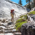 Much of the trail back to Glen Aulin is uphill.- Glen Aulin High Sierra Camp to Waterwheel Falls
