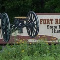 Fort Ridgely State Park entrance.- Fort Ridgely State Park
