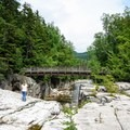 Pedestrian bridge at the Rocky Gorge Scenic Area.- Rocky Gorge Scenic Area