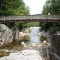 Pedestrian bridge over the Rocky Gorge Scenic Area.- Rocky Gorge Scenic Area