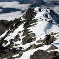 Gaining the summit.- Mount Ossa Scramble: Northwest Ridge